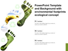 Powerpoint Template And Background With Environmental Footprints Ecological Concept