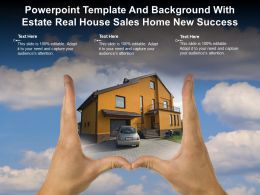 Powerpoint Template And Background With Estate Real House Sales Home New Success