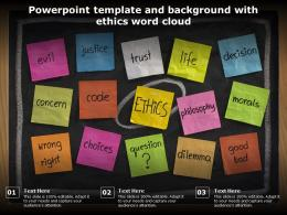 Powerpoint Template And Background With Ethics Word Cloud