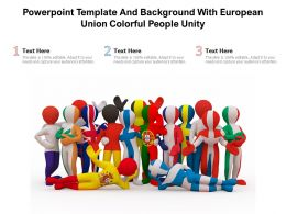 Powerpoint Template And Background With European Union Colorful People Unity