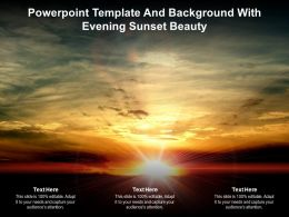 Powerpoint Template And Background With Evening Sunset Beauty Ppt Powerpoint