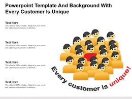 Powerpoint Template And Background With Every Customer Is Unique