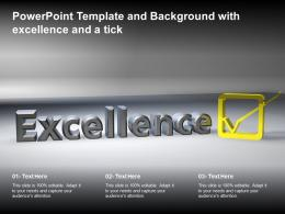 Powerpoint Template And Background With Excellence And A Tick