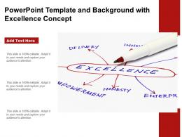 Powerpoint Template And Background With Excellence Concept