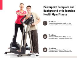 Powerpoint Template And Background With Exercise Health Gym Fitness