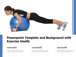 Powerpoint Template And Background With Exercise Health