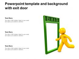 Powerpoint Template And Background With Exit Door