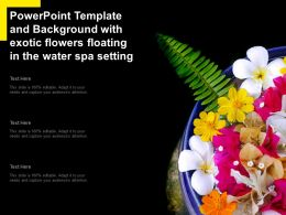 Powerpoint Template And Background With Exotic Flowers Floating In The Water Spa Setting