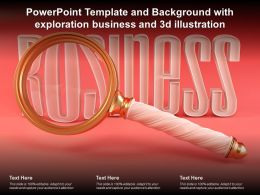 Powerpoint Template And Background With Exploration Business And 3d Illustration