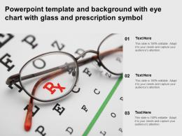 Powerpoint Template And Background With Eye Chart With Glass And Prescription Symbol