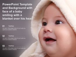 Powerpoint Template And Background With Face Of A Baby Smiling With A Blanket Over His Head