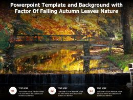 Powerpoint Template And Background With Factor Of Falling Autumn Leaves Nature