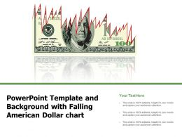 Powerpoint Template And Background With Falling American Dollar Chart