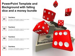 Powerpoint Template And Background With Falling Dice And A Money Bundle