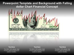 Powerpoint Template And Background With Falling Dollar Chart Financial Concept