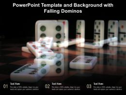 Powerpoint Template And Background With Falling Dominos