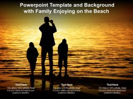 Powerpoint Template And Background With Family Enjoying On The Beach