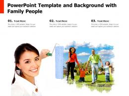 Powerpoint Template And Background With Family People