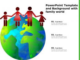 Powerpoint Template And Background With Family World