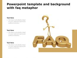 Powerpoint Template And Background With FAQ Metaphor