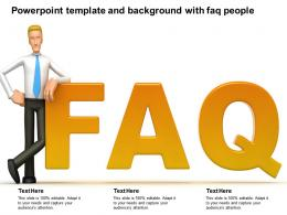 Powerpoint Template And Background With Faq People