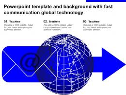 Powerpoint Template And Background With Fast Communication Global Technology