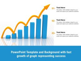 Powerpoint Template And Background With Fast Growth Of Graph Representing Success