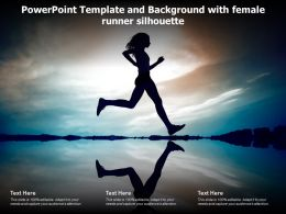Powerpoint Template And Background With Female Runner Silhouette
