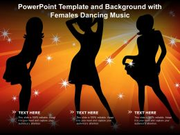 Powerpoint Template And Background With Females Dancing Music