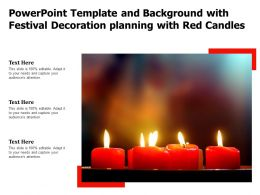 Powerpoint Template And Background With Festival Decoration Planning With Red Candles