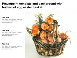 Powerpoint Template And Background With Festival Of Egg Easter Basket