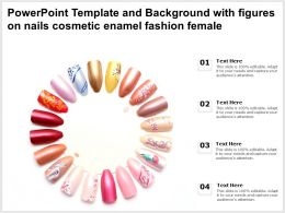 Powerpoint Template And Background With Figures On Nails Cosmetic Enamel Fashion Female
