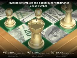 Powerpoint Template And Background With Finance Chess Symbol