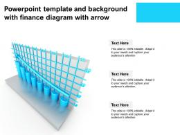 Powerpoint Template And Background With Finance Diagram With Arrow