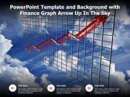 Powerpoint Template And Background With Finance Graph Arrow Up In The Sky
