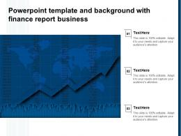 Powerpoint Template And Background With Finance Report Business