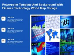 Powerpoint Template And Background With Finance Technology World Map Collage