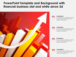 Powerpoint Template And Background With Financial Business Stat And White Arrow 3d