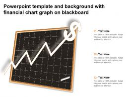 Powerpoint Template And Background With Financial Chart Graph On Blackboard