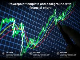 Powerpoint Template And Background With Financial Chart