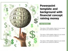 Powerpoint Template And Background With Financial Concept Raining Money