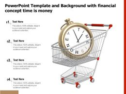Powerpoint Template And Background With Financial Concept Time Is Money