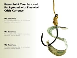 Powerpoint Template And Background With Financial Crisis Currency