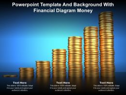 Powerpoint Template And Background With Financial Diagram Money