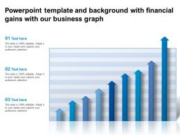 Powerpoint Template And Background With Financial Gains With Our Business Graph