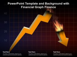 Powerpoint Template And Background With Financial Graph Finance