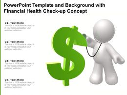 Powerpoint Template And Background With Financial Health Check Up Concept