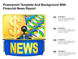 Powerpoint Template And Background With Financial News Report