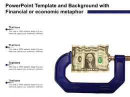 Powerpoint Template And Background With Financial Or Economic Metaphor