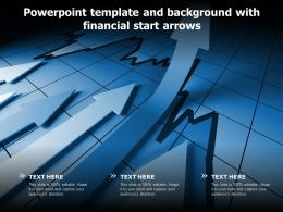 Powerpoint Template And Background With Financial Start Arrows